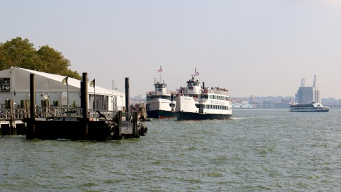 Statue of Liberty Ferry Terminal by Jamal Browne