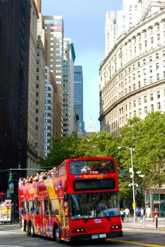 New York City Tour Bus by Jamal Browne