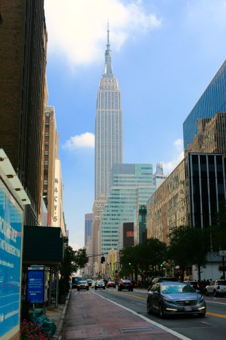 W 34 St Manhattan & Empire State Building by Jamal Browne