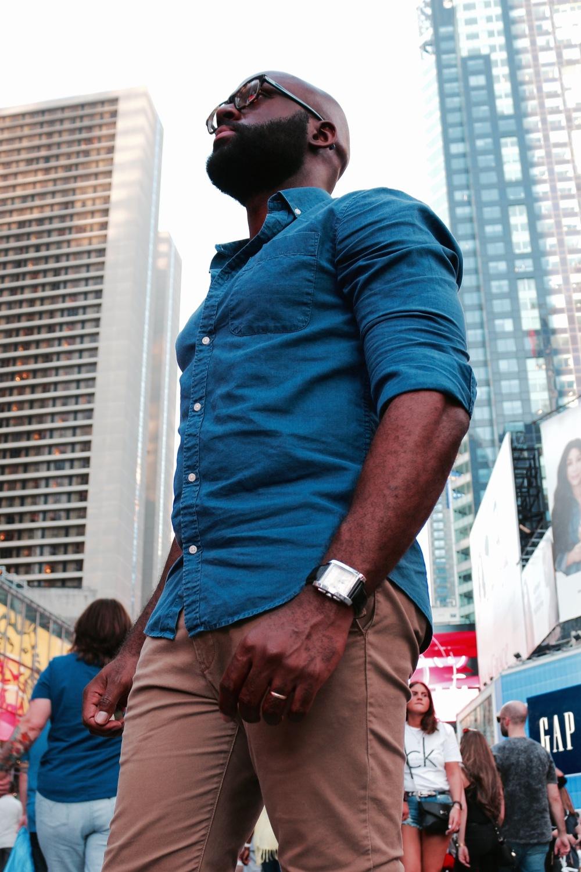 Jamal Browne in Times Square