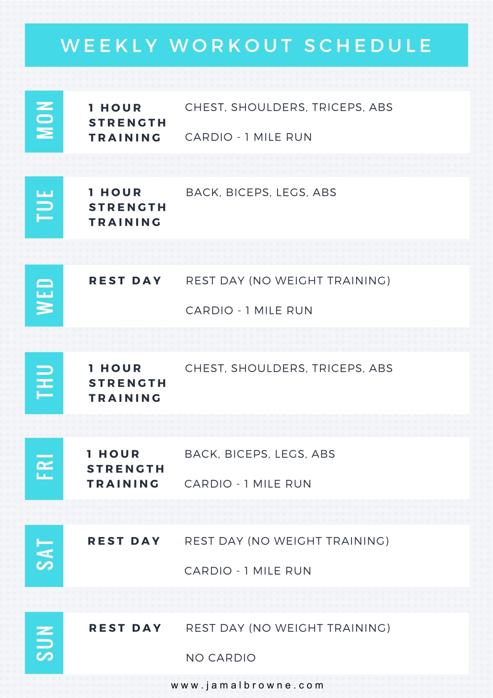 JB Workout Structure