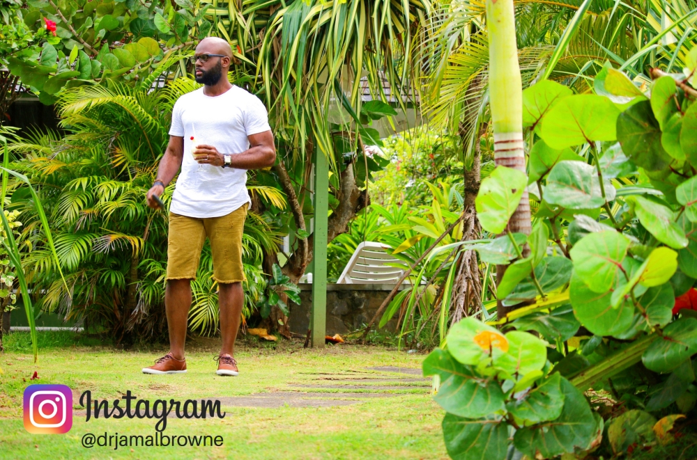 Dr. Jamal Browne at Young Island Resort