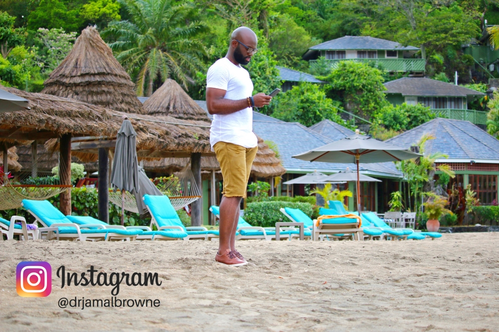 Dr. Jamal Browne at Young Island