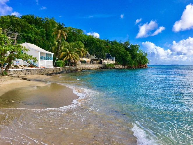 This small beach is located just outside the Mariners Hotel on St. Vincent's South Coast